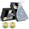SET 2 SILICONE REUSABLE ZERO WASTE ICE CUBE TRAYS WITH LID