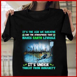 Unisex Atmosphere Threat T-Shirt Zero Waste Initiative 10