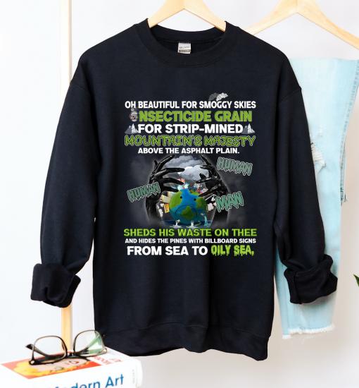 Unisex Environmental Pollution Neck Sweatshirt - Zero Waste Initiative 18