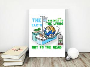 Earth Death Matte Canvas - Zero Waste Initiative 19