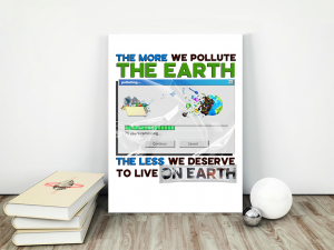 Earth Pollution Matte Canvas - Zero Waste Initiative 20