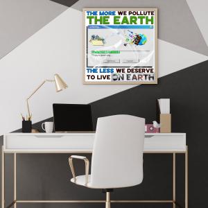 Earth Pollution Poster - Zero Waste Initiative 20