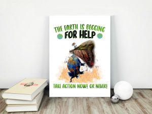 Help The Earth Matte Canvas - Zero Waste Initiative