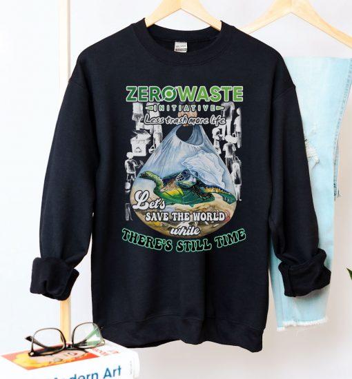 Less Trash More Life Crew Neck Sweatshirt