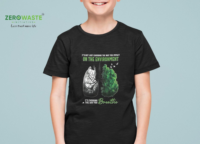 Air You Breath Youth T-shirt Unisex Zero Waste Initiative 30