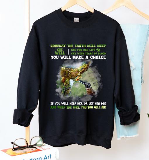 Unisex Save the Earth Crew Neck Sweatshirt - Zero Waste Initiative 1
