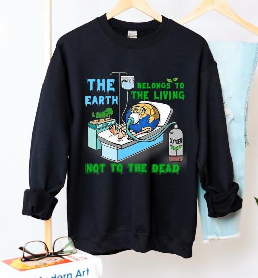 Unisex Earth Death Crew Neck Sweatshirt - Zero Waste Initiative 19