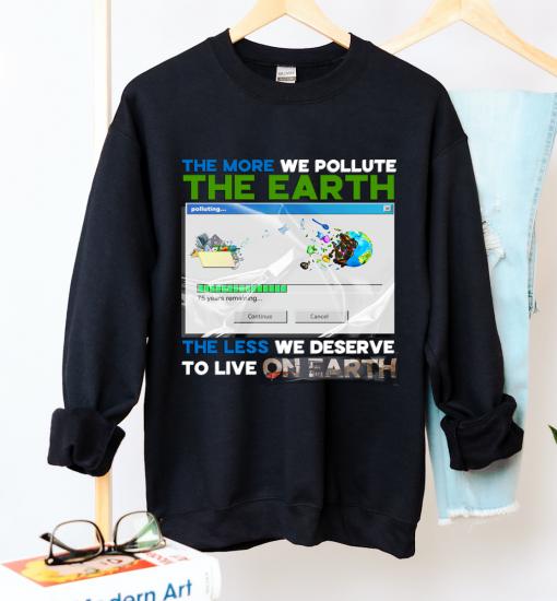 Unisex Earth Pollution Crew Neck Sweatshirt - Zero Waste Initiative 20