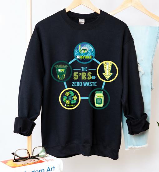 Unisex The 5 R Crew Neck Sweatshirt - Zero Waste Initiative 22