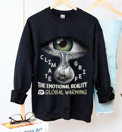 Unisex Climate Grief Crew Neck Sweatshirt - Zero Waste Initiative 31