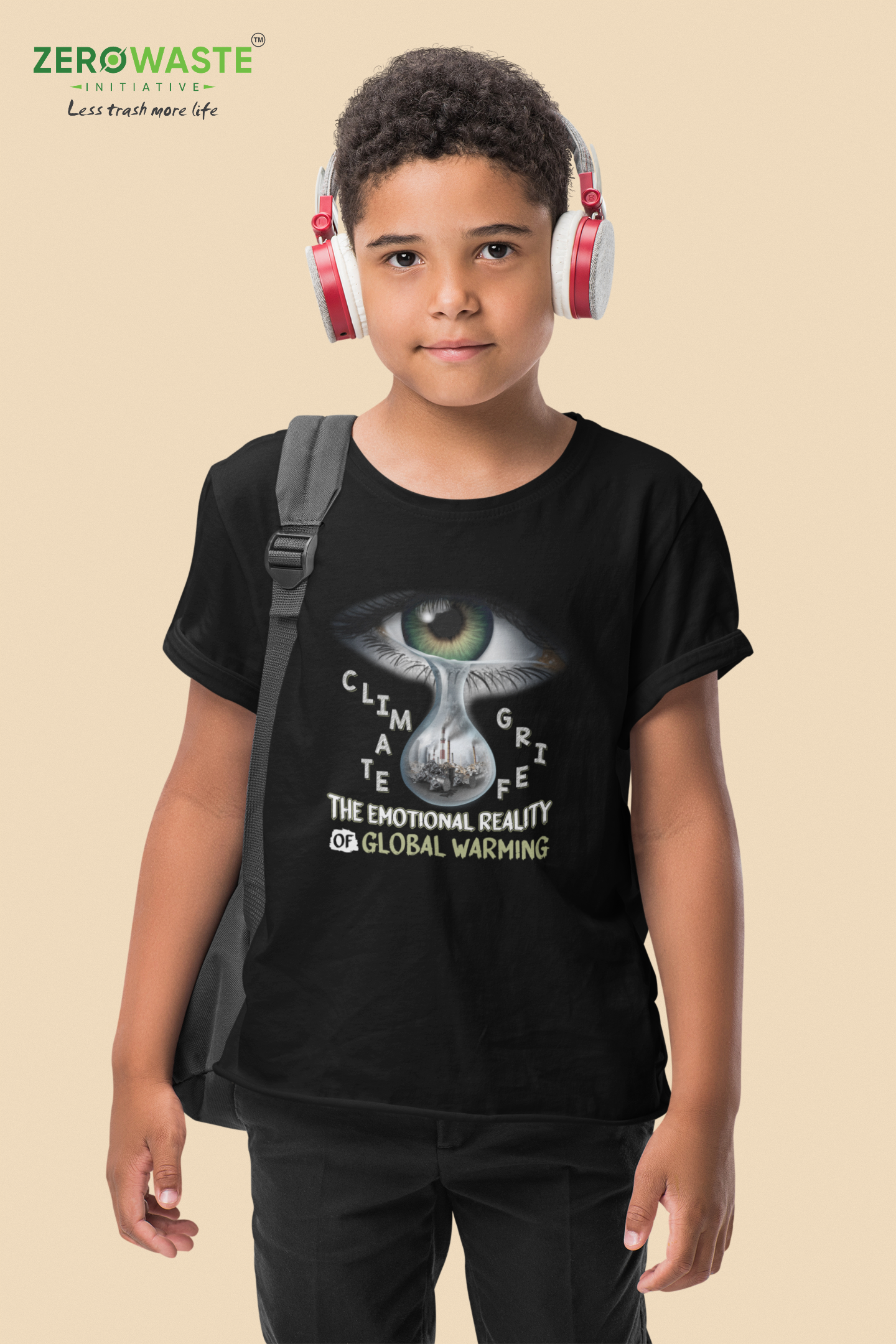 Climate Grief Youth T-shirt Unisex Zero Waste Initiative 31