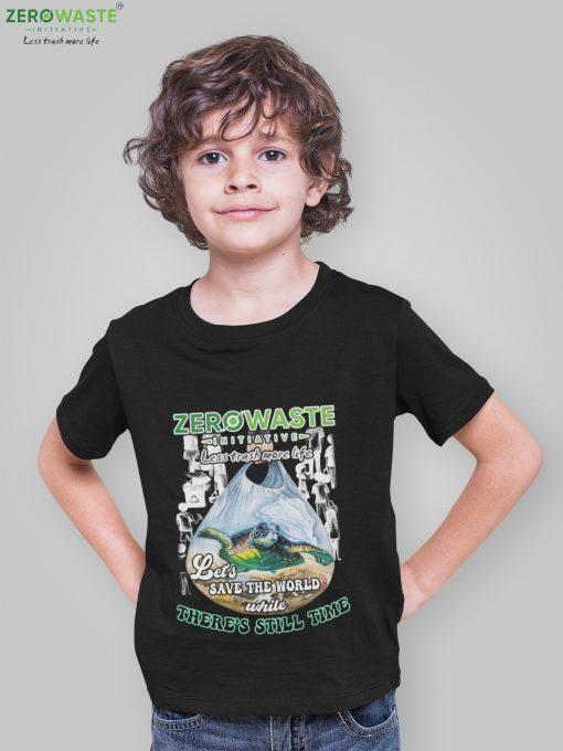 Less Trash More Life Youth T-shirt - Unisex Zero Waste Initiative 9