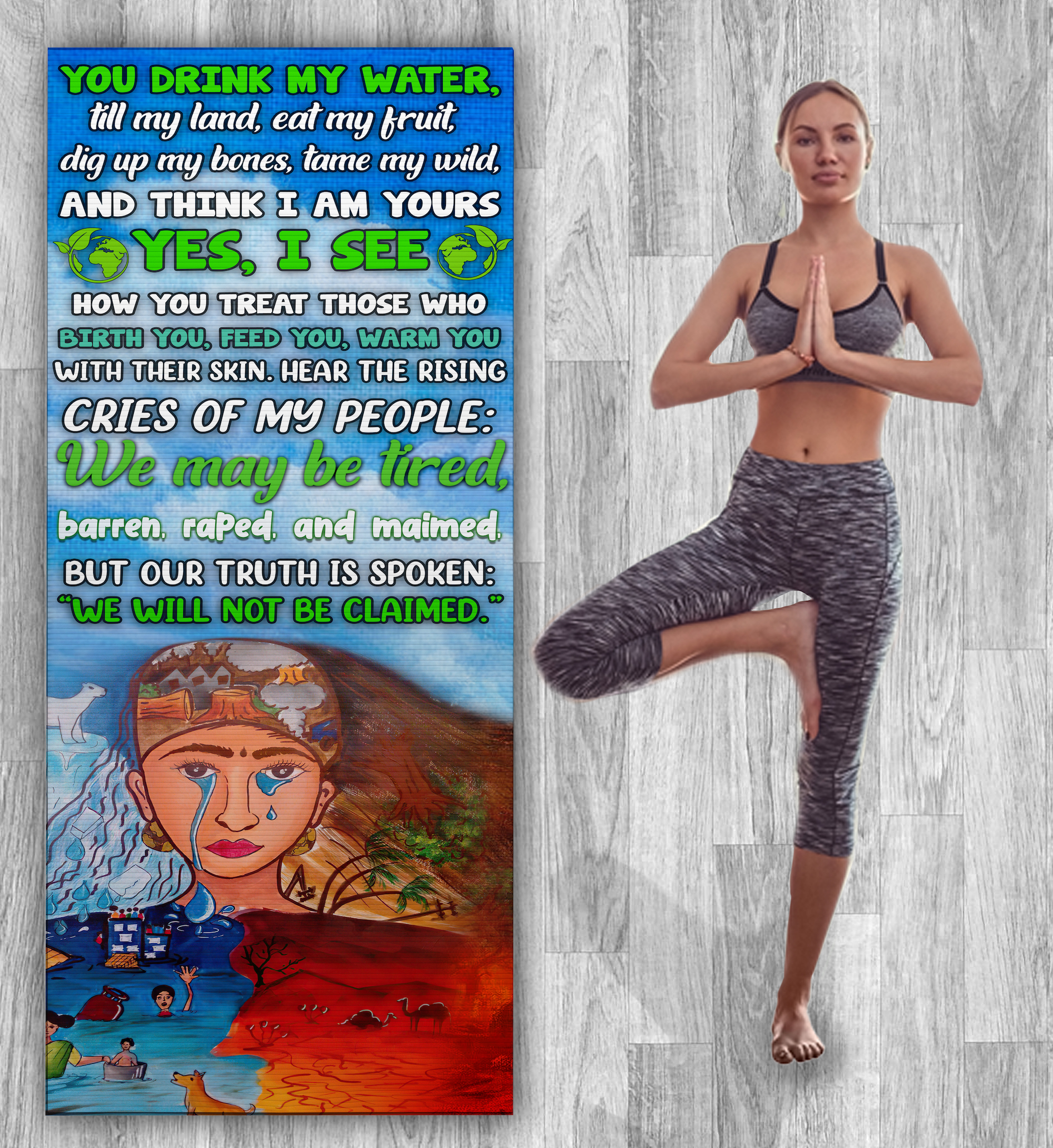 Anger Of The Earth Yoga Mat - Zero Waste Initiative