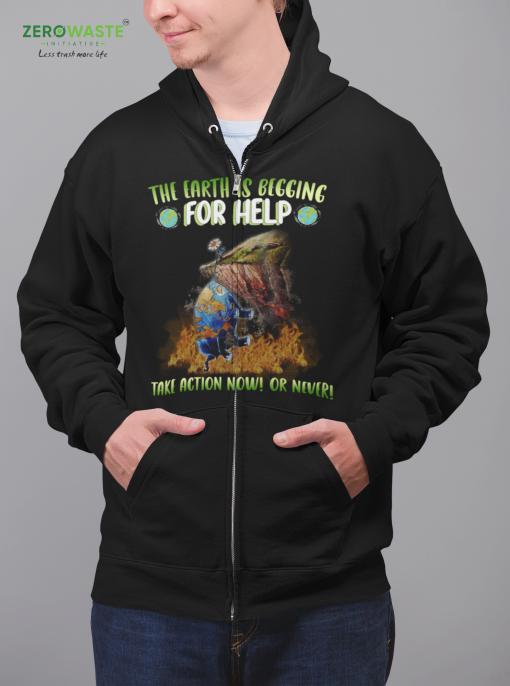 Help Earth Zip Hoodie - Unisex Zero Waste Initiative 13