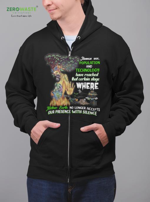 Unisex Save Mother Earth Zip Hoodie Zero Waste Initiative 25