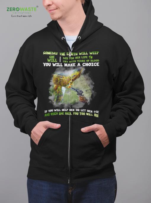 Unisex Save The Earth Zip Hoodie Zero Waste Initiative 1