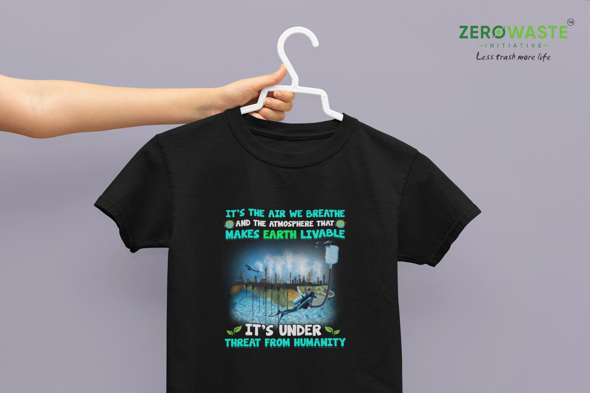 Atmosphere Threat Youth T-shirt - Unisex Zero Waste Initiative 10