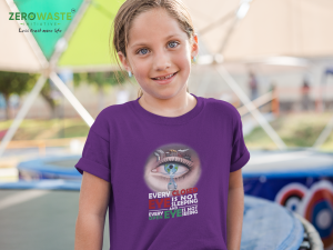 Face The Fact Youth T-shirt - Unisex Zero Waste Initiative 11