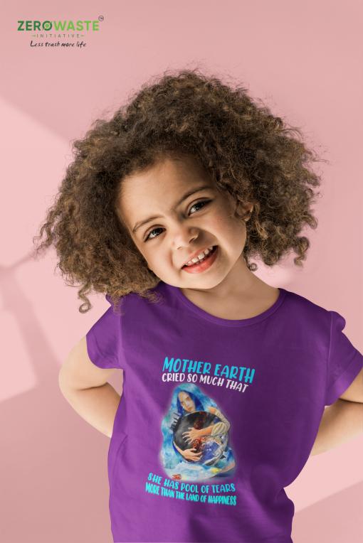 Crying Earth Youth T-shirt - Unisex Zero Waste Initiative 8