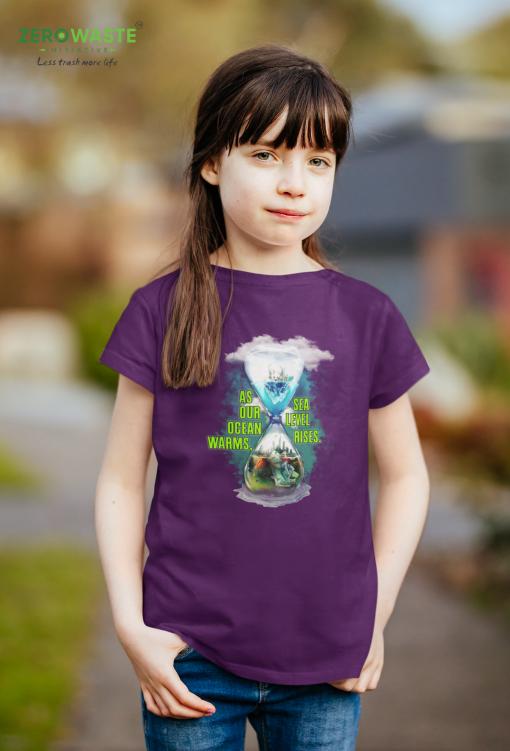 Ocean Heating Youth T-shirt - Unisex Zero Waste Initiative 7