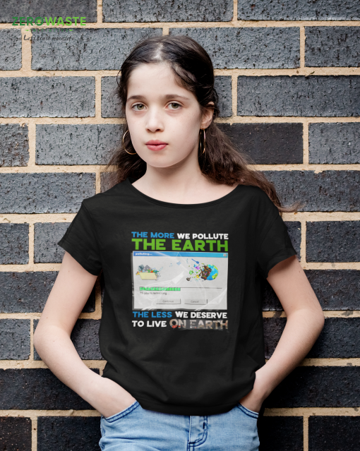 Earth Pollution Youth T-shirt - Unisex Zero Waste Initiative 20