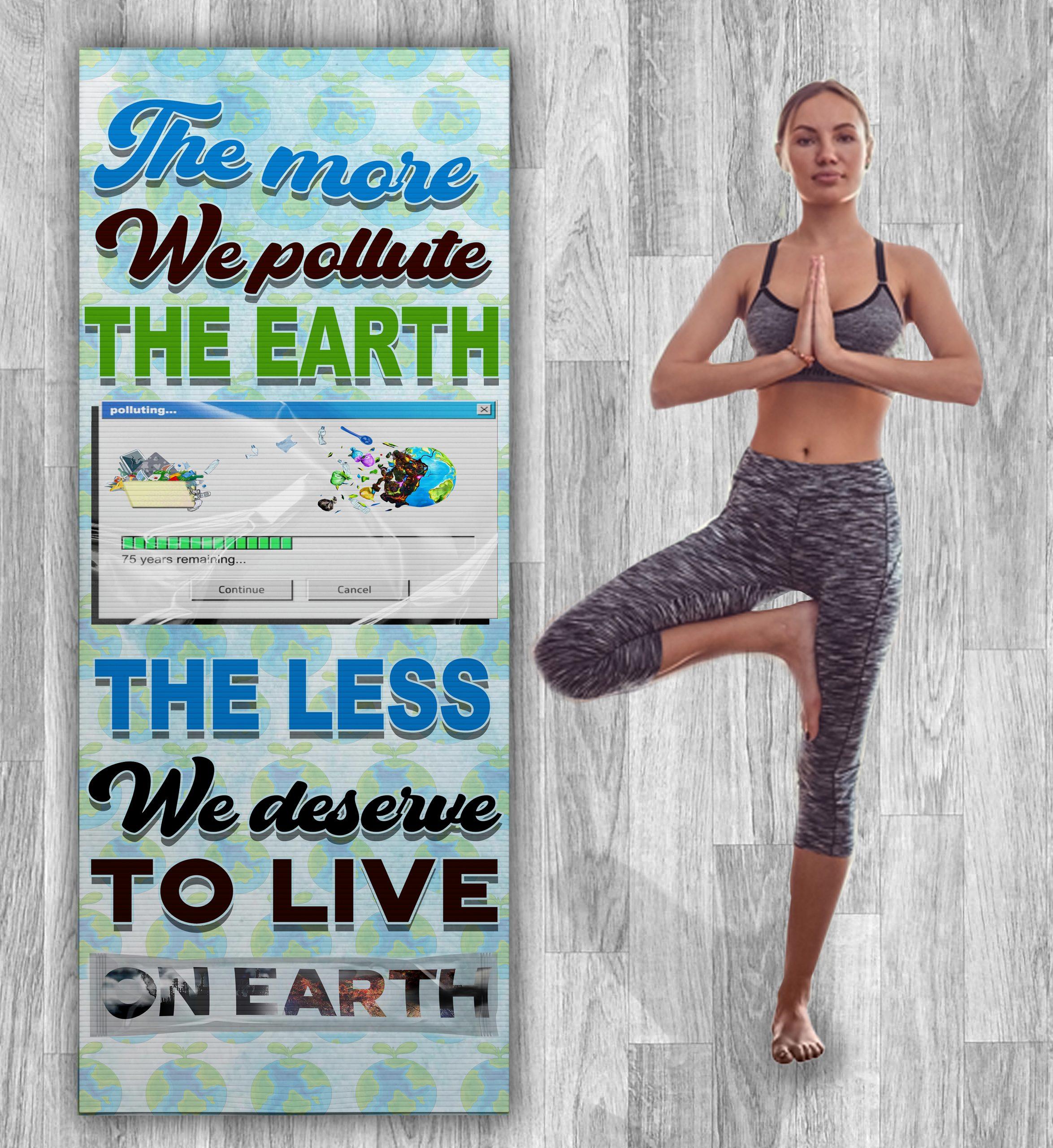EARTH POLLUTION YOGA MAT-ZERO WASTE INITIATIVE