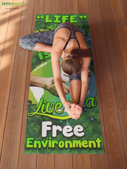 FREE ENVIRONMENT YOGA MAT - ZERO WASTE INITIATIVE